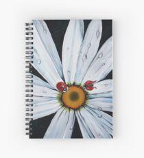 Ladybug on flower Spiral Notebook