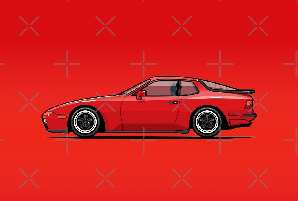 India Red 1986 P 944 951 Turbo (US spec) by Tom Mayer
