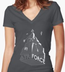 Mt. Triforce Women's Fitted V-Neck T-Shirt