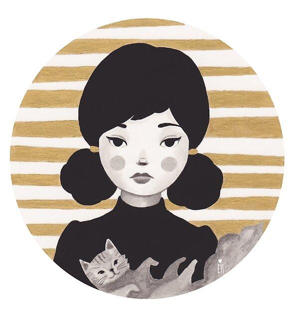 Kitty Girl II by Emma Hampton