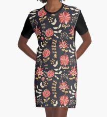 Wild Foliage Graphic T-Shirt Dress
