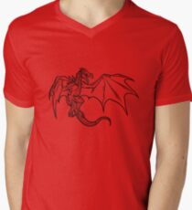 Skyrim Dragon Mens V-Neck T-Shirt