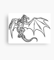 Skyrim Dragon Canvas Print