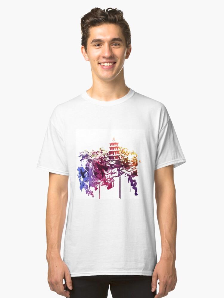 Tower in the Bonsai garden 1 Classic T-Shirt Front
