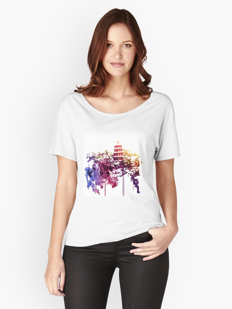 Tower in the Bonsai garden 1 Women's Relaxed Fit T-Shirt Front