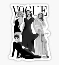 """""""VOGUE"""" Marilyn Monroe, Judy Garland, Audrey Hepburn und Elizabeth Montgomery Sticker"""