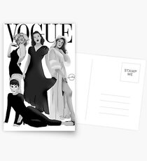 """""""VOGUE"""" Marilyn Monroe, Judy Garland, Audrey Hepburn und Elizabeth Montgomery Postkarten"""