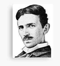 Tesla - Portrait Canvas Print