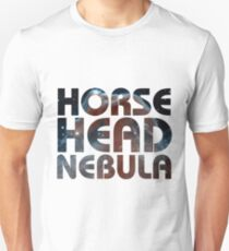 Horse Head Nebula Photo Background Text T-Shirt