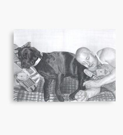 Man and his dog Canvas Print