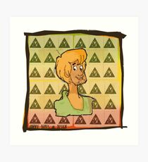 Shaggy & Blotters Art Print
