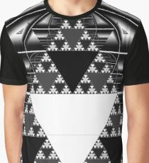 Monochrome, Sierpinski Triangle Graphic T-Shirt