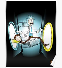 Rick and Porty - shirt phone and ipad case Poster