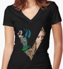 Camiseta entallada de cuello en V Lagertha