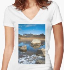Beal Tarn, Cumbria Women's Fitted V-Neck T-Shirt