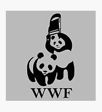 WWF Panda Parody Photographic Print