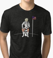 Meditation on the Moon Tri-blend T-Shirt