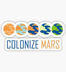Colonize Mars. Sticker