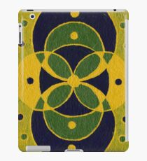 Green and Blue Sacred Geometry Overlapping Circles iPad Case/Skin
