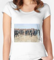 Smile for the camera!! Atlantic City, 1905 Fitted Scoop T-Shirt
