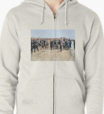 Smile for the camera!! Atlantic City, 1905 Zipped Hoodie