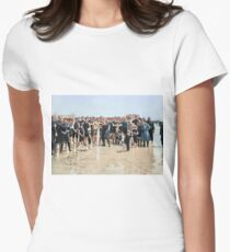 Smile for the camera!! Atlantic City, 1905 Fitted T-Shirt