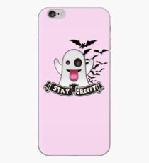 Stay Creepy - Ghost Emoji iPhone Case