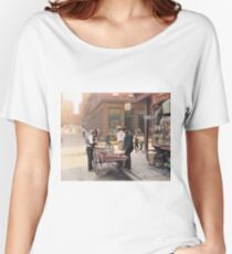 Clam seller on Mulberry Bend, New York, ca 1900 Women's Relaxed Fit T-Shirt