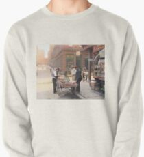 Clam seller on Mulberry Bend, New York, ca 1900 Pullover Sweatshirt