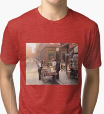 Clam seller on Mulberry Bend, New York, ca 1900 Tri-blend T-Shirt