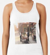 Clam seller on Mulberry Bend, New York, ca 1900 Racerback Tank Top