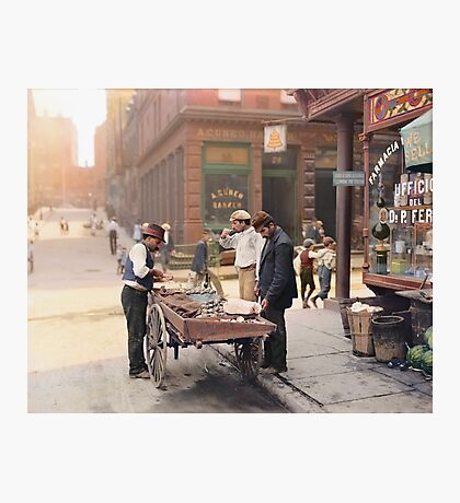 Clam seller on Mulberry Bend, New York, ca 1900 Photographic Print