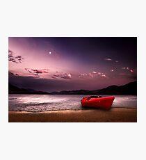 Twilight Moon Photographic Print