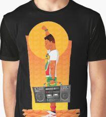 Sunset Boombox Graphic T-Shirt