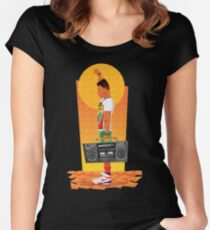 Sunset Boombox Women's Fitted Scoop T-Shirt