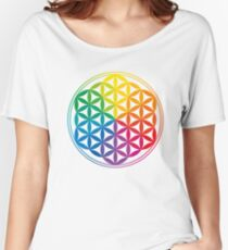 Flower Of Life, Sacred Geometry, Yoga Relaxed Fit T-Shirt