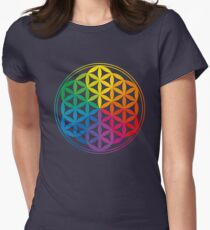 Flower Of Life, Sacred Geometry, Yoga Womens Fitted T-Shirt