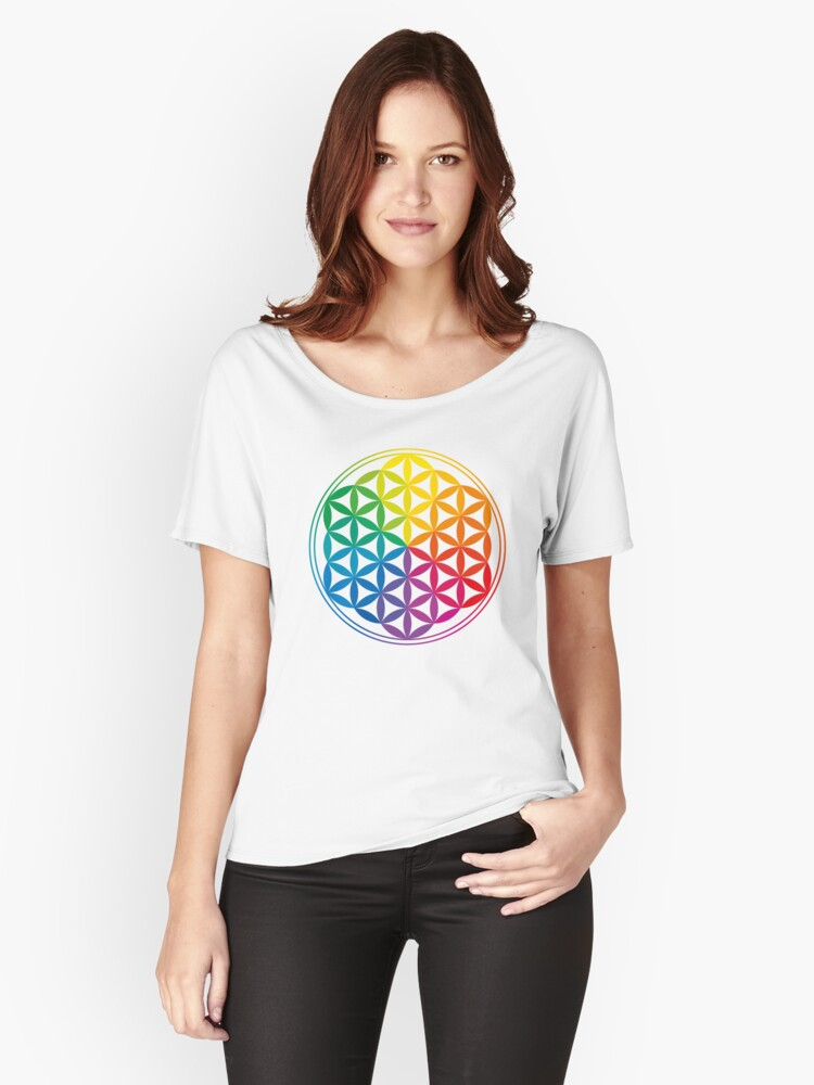 Flower Of Life, Sacred Geometry, Yoga Women's Relaxed Fit T-Shirt Front