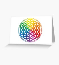 Flower Of Life, Sacred Geometry, Yoga Greeting Card