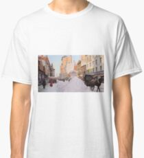 Piles of snow on Broadway, after storm, New York, ca 1905 Colorized Classic T-Shirt