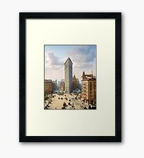 Flat Iron in New York City, ca 1903 colorized Framed Print
