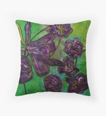 Pretty purple flowers Throw Pillow