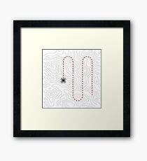 Drone mapping Framed Print