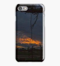 Sunset at the Cattle Yard - Kilcowera Station iPhone Case/Skin