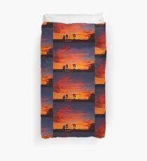 Last Night's Sunset Duvet Cover