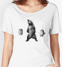 Grizzly Bear Deadlifting Women's Relaxed Fit T-Shirt