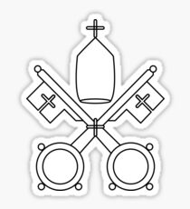 Vatican City Coat of Arms Sticker