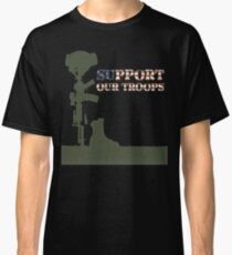 Support our Troops - Fallen Soldier Classic T-Shirt