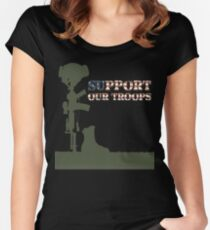 Support our Troops - Fallen Soldier Women's Fitted Scoop T-Shirt