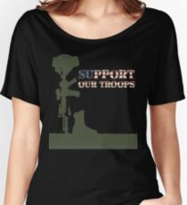 Support our Troops - Fallen Soldier Women's Relaxed Fit T-Shirt